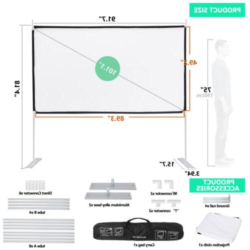 """100"""" Diagonal 16:9 Projector HD Theater"""