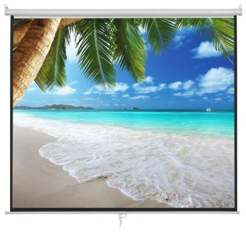 100 16:9 Manual Pull Projection Screen Theater Movie