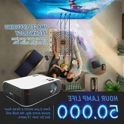 28000LM 1080P HD WiFi LED Video Projector