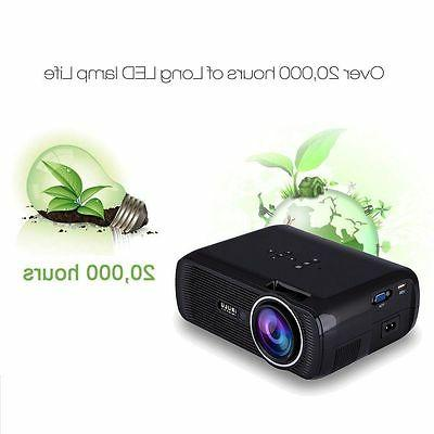 3D Projector LED LCD Multimedia Smart Home Theater HDMI VGA