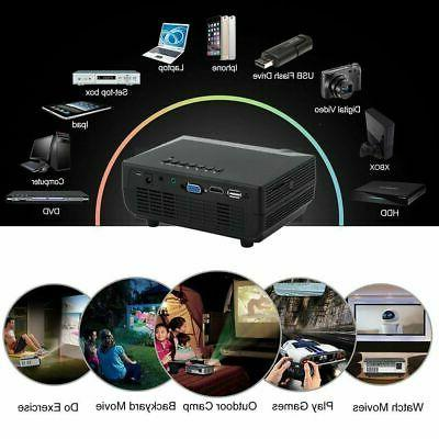 5000LMs Projector Theater Cinema AV VGA HDMI