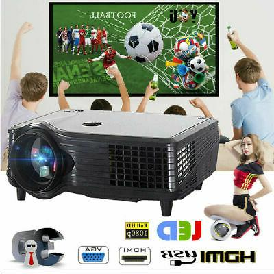 5000LMs 1080P HD 3D Projector LED Multimedia Home Theater Ci