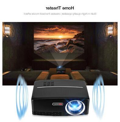 1080P 3D LED Projector Mini Home USB BR