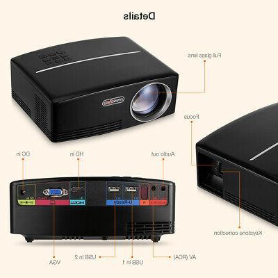 3D LED Mini Theater USB VGA