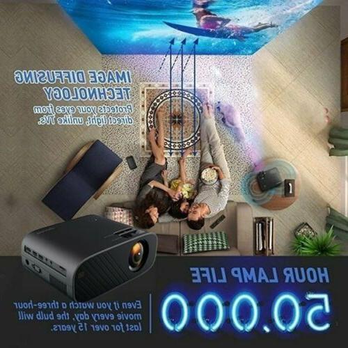 1080P Bluetooth 3D LED Projector Cinema Lumens