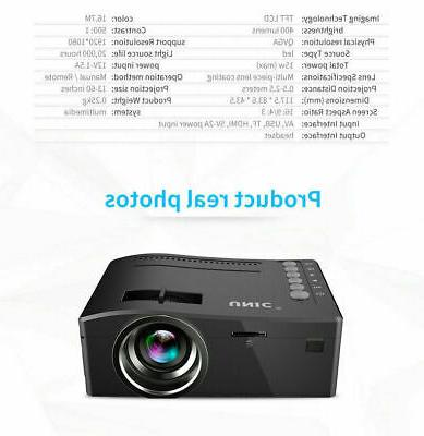 1080P Theater USB AV HDMI Mini Portable Full HD Projector