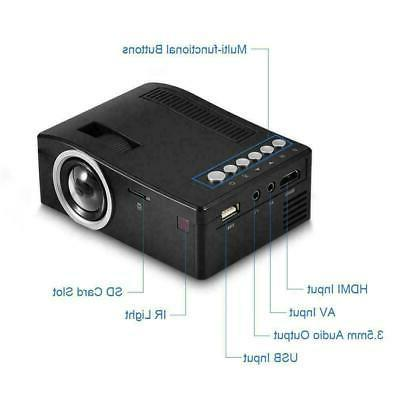 1080P Home USB AV VGA HDMI Mini HD LED