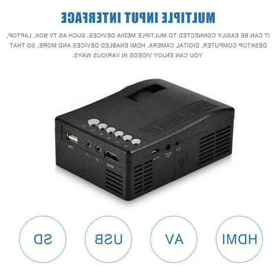 1080P Home USB AV VGA HDMI Mini Full HD LED Projector