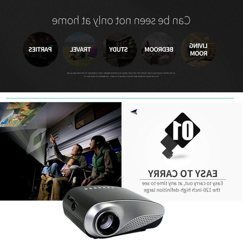 1080P HD LED 3D Projector Theater USB TV AV HDMI DVD
