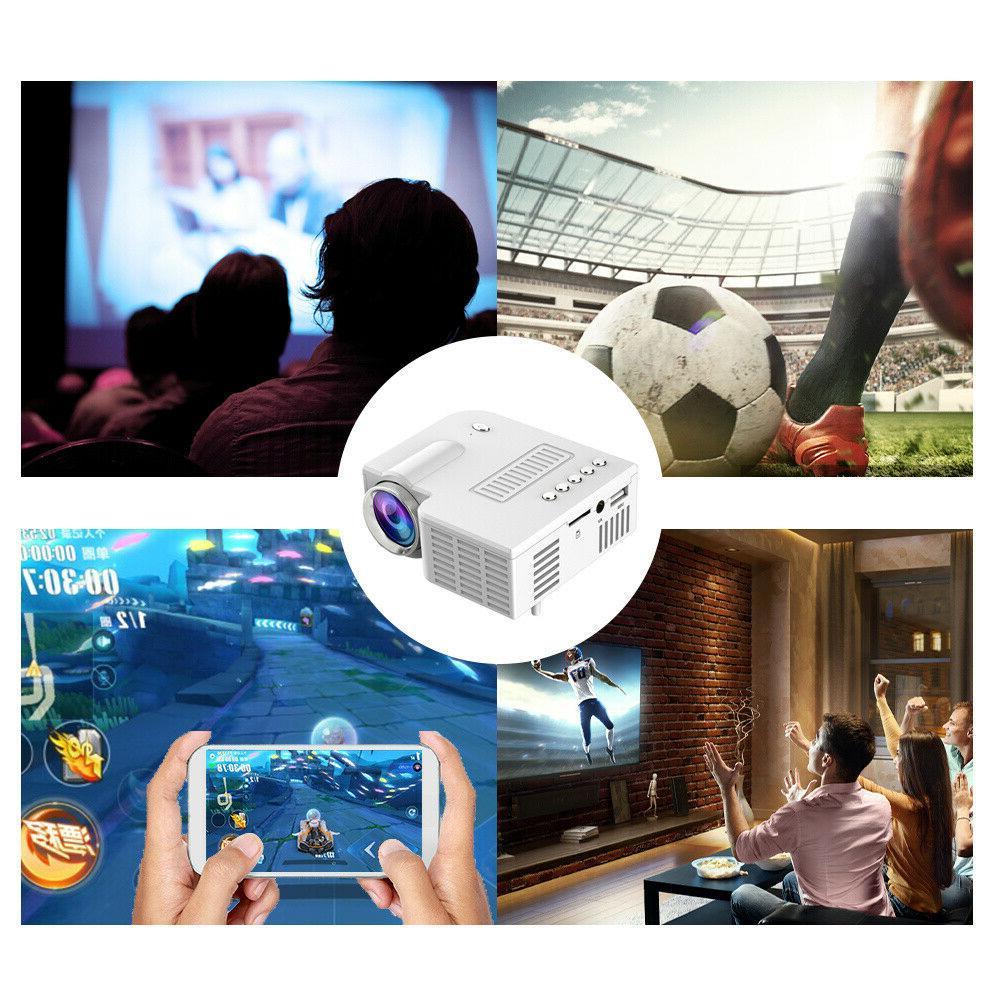 1080P Mini Smart Home Theater Projector 3D AV Video Movie