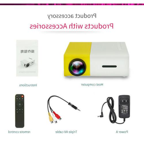 YG300 Mini Portable Projector Multimedia Home HD