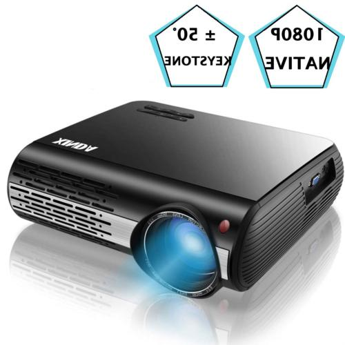 1080P Projector,XINDA 4000 Lux Native HD 1080P Projector wit