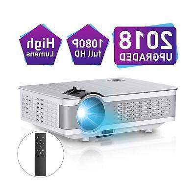 "1080P Projector,Xinda 5.5 inch HD Projector with 200"" Displa"