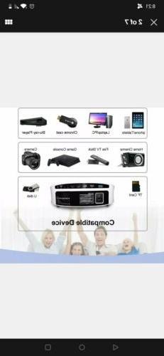 1080P Projector Artlii LED Cinema PC Video