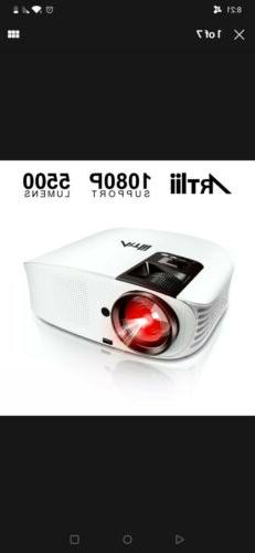 1080p projector 5500l led hifi home theater