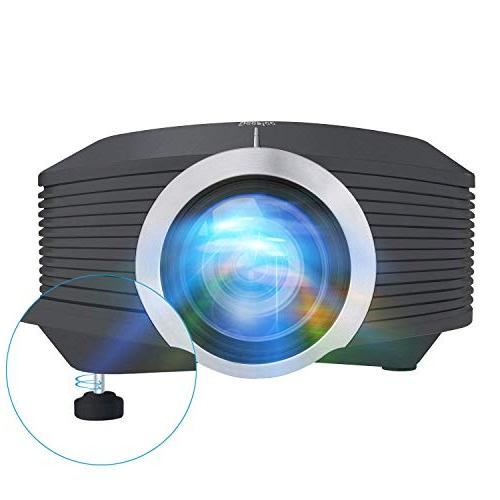 Home Projector with AV SD Card HDMI for Cinema Video Movie Night Laptop Projector