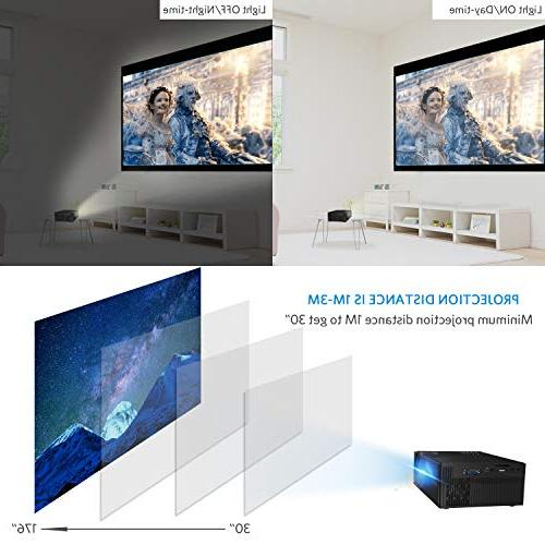 2019 HD 1080P and Display Supported, Portable Movie 50,000 Hrs Life, Multiple