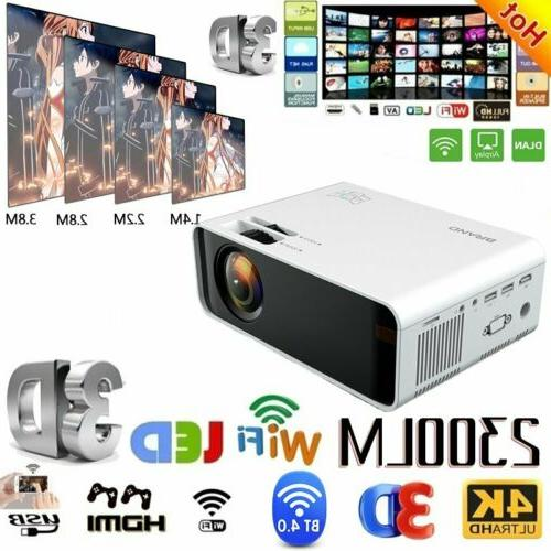 Portable Wifi LCD Screen Projector 1080P HD Home Theater Vid