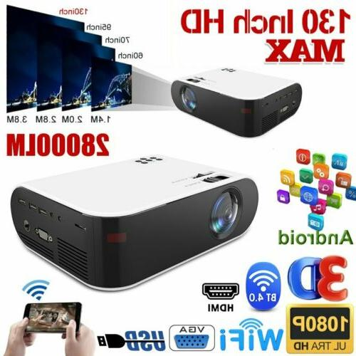 28000lm 4k 1080p hd wifi 3d led