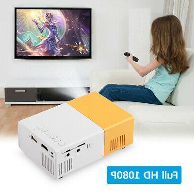 YG300 1080P Theater Cinema SD Mini LED Projector US