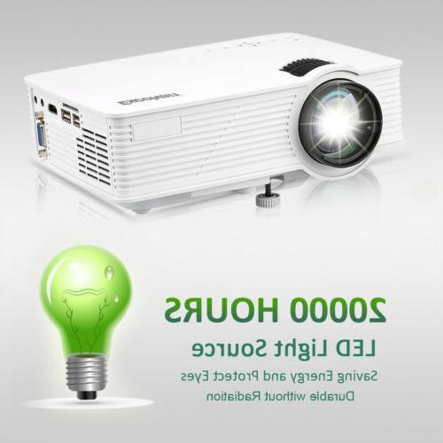 7000 Lumen 3D Projector 1080P FHD LED Multimedia Smart Home