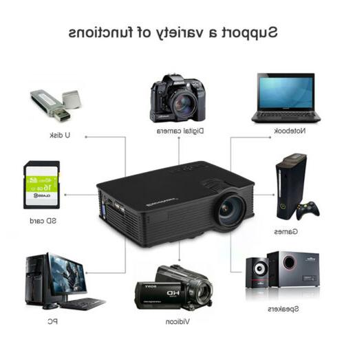 7000 Lumens Mini Projector HD Theater SD AV