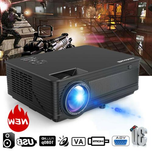 "1080P Full HD Projector Theater 7000 Lumens 3D USB Multimedia 200"""