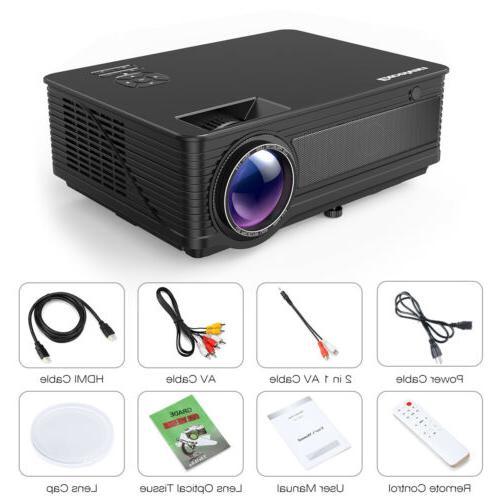 """1080P Projector Lumens 3D HDMI Multimedia 200"""""""