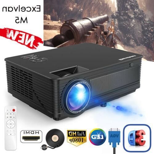 1080P HD Projector Lumens 3D Multimedia