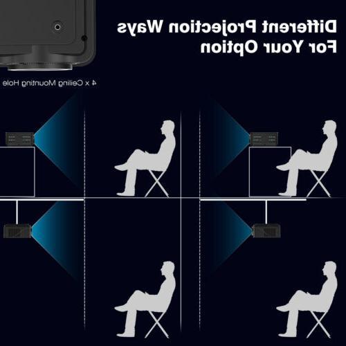 1080P Full LED Projector Theater Lumens 3D Multimedia