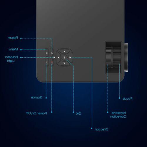 "1080P HD Projector 7000 Lumens HDMI Multimedia 200"""