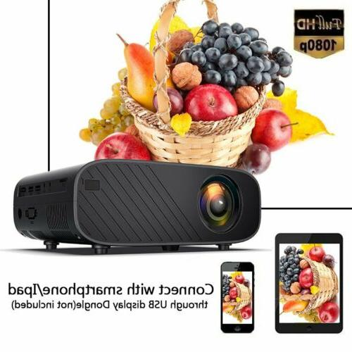 LED Smart Theater Projector Wifi 18000Lumens HD USB