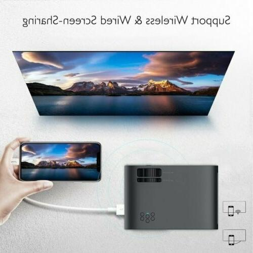1080P WiFi 3D Mini Video Projector Home Cinema Lumens 4K