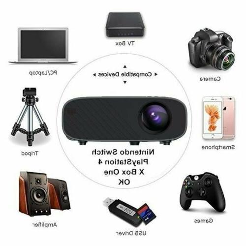 1080P HD WiFi Bluetooth 3D Projector Cinema 23000 Lumens