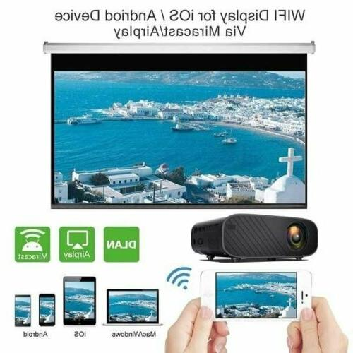23000 4K HD WiFi 3D Mini Video Theatre Home Cinema