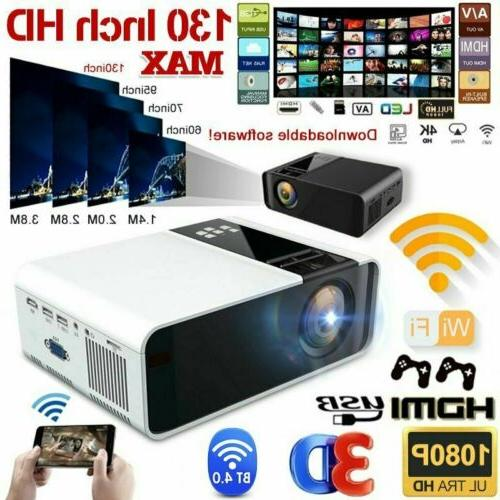 4k 1080p wireless projector 3d home theater