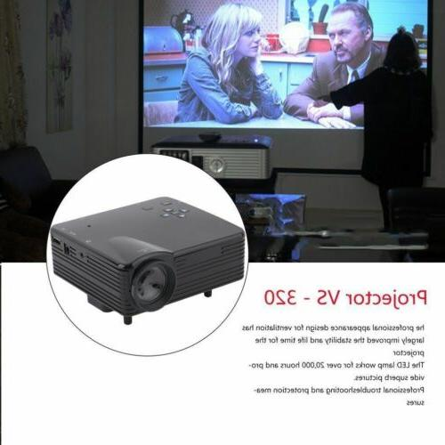 7000 HD LCD Projector Home Theater PC TV VGA USB US BT