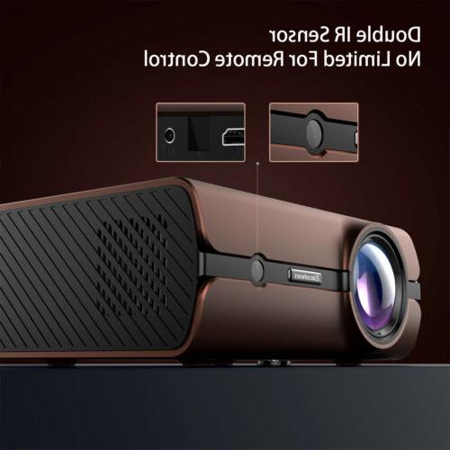 4K FHD Projector 4000LM Home Movie HDMI 1+8G
