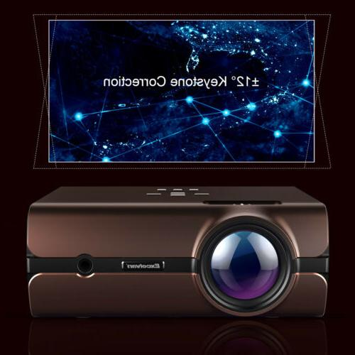 LED Smart Theater Projector Wifi Bluetooth 1080p Movie