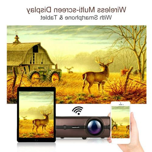 4K WiFi Wireless Projector HDMI