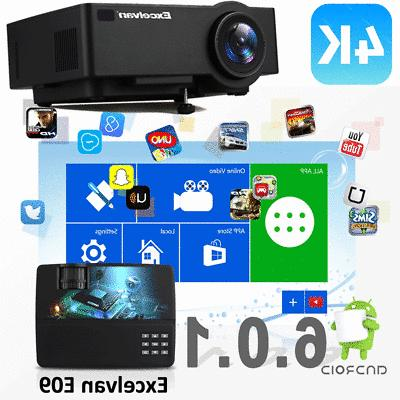 LED Smart Theater Projector Wifi HDMI Movie
