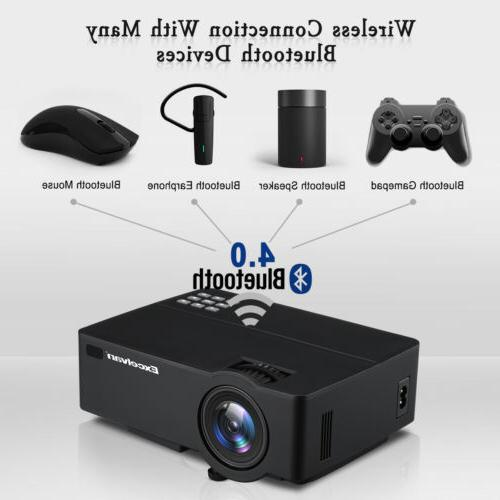 E09 Android 6.0.1 Home Theater ProjectorS 1200Lumen Full HD