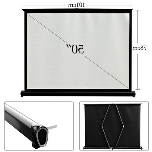 50'' LED Projector Screen HD Home Theater Outdoor Tabletop