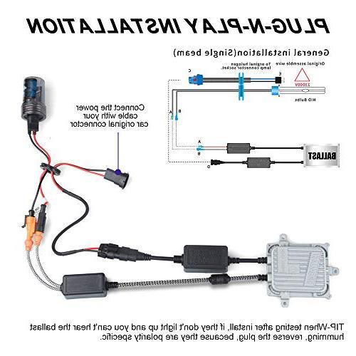 Aukee 55w H1 HID Xenon Conversion Kit Headlight Canbus No 6000K