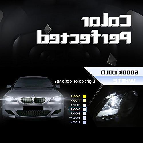 Aukee 55w Xenon Conversion Kit Headlight Canbus No 6000K White