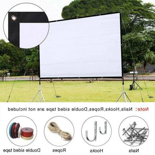 "120"" HD 4K Movie Portable 16:9 Projector Film Screen Outdoor"