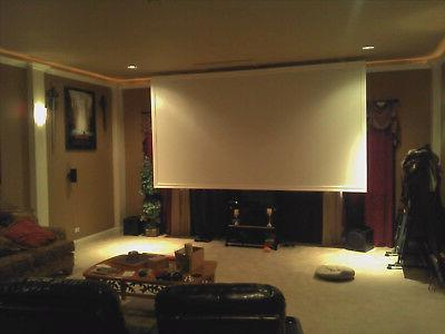 """63""""x37"""" Projector Projection Screen Material BARE Commercial Grade"""