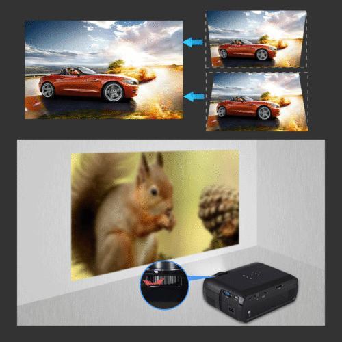 7000 HD 1080P 3D VGA HDMI Theater Projector Cinema HM