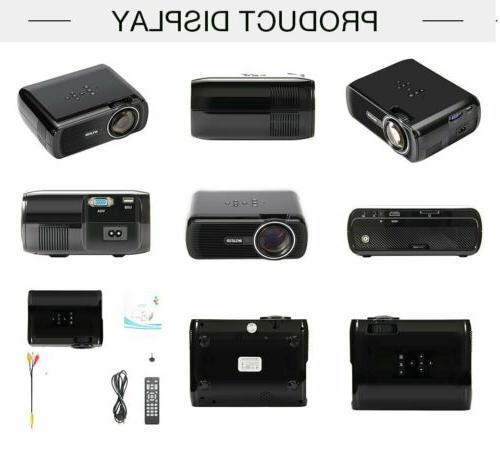 7000 Lumen HD 1080P LED VGA HDMI Theater Projector