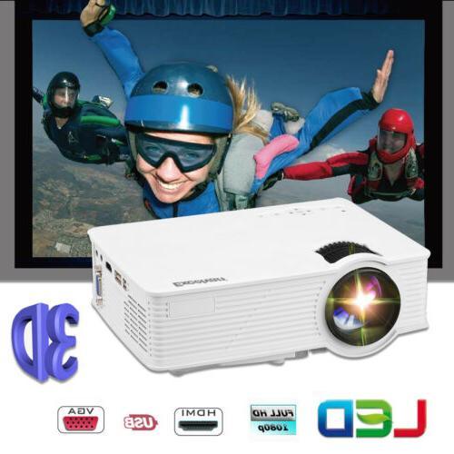 7000 Full 1080P 3D Home Theater Multimedia USB VGA